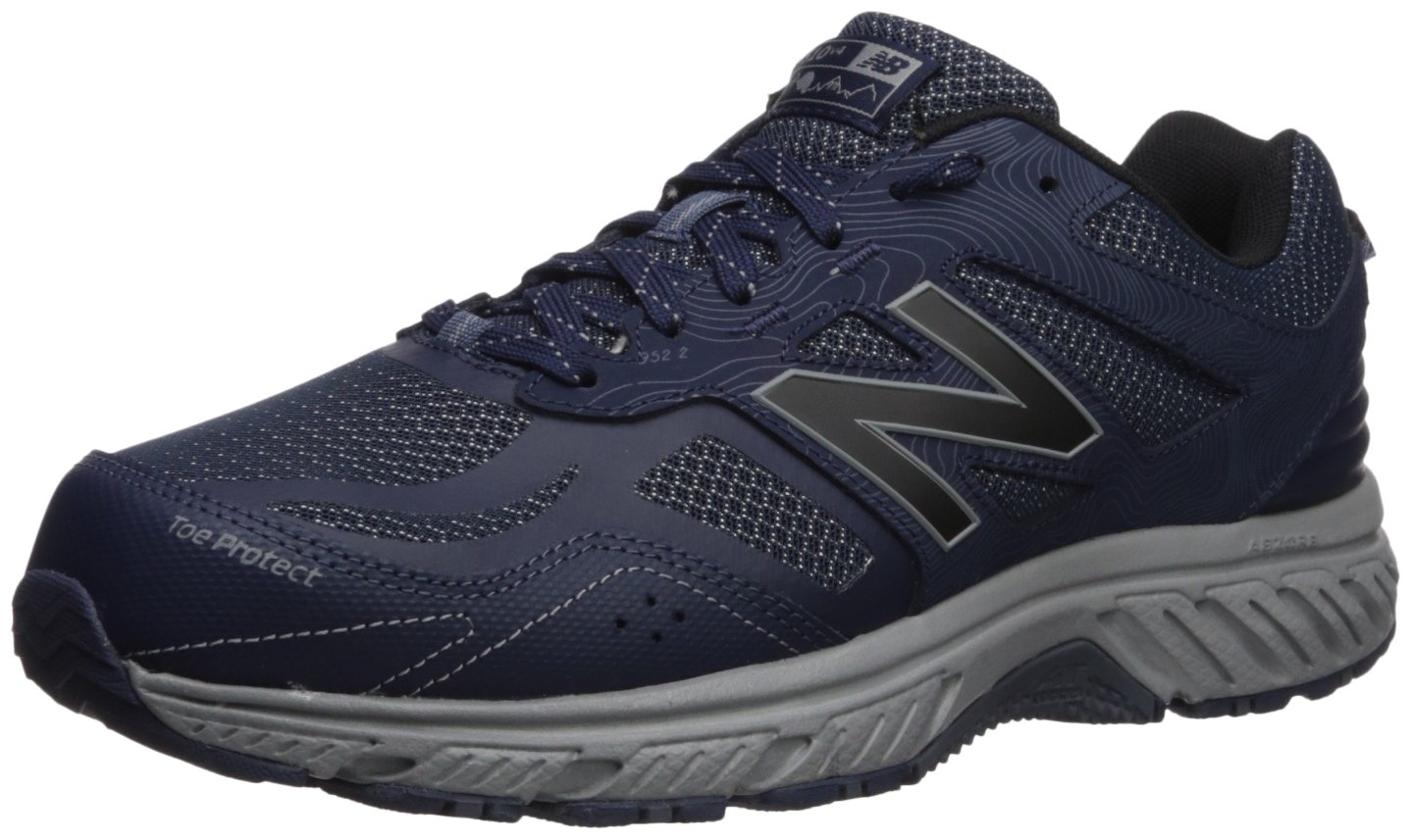 New Balance Men's 510v4 Cushioning Trail Running Shoe, Navy/Grey, 8 4E US by New Balance