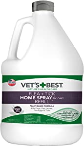 Vet's Best Flea and Tick Home Spray for Cats | Flea Treatment for Cats and Home | Flea Killer with Certified Natural Oils