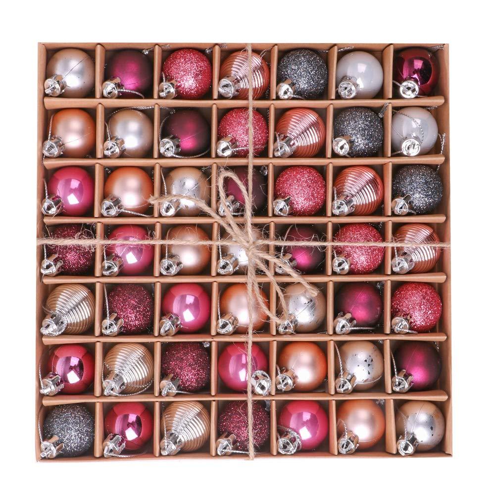 Victor's Workshop 49 pieazas de Las Bolas de Navidad, Diámetro de 3cm, Inastillables de plástico Victor' s Workshop