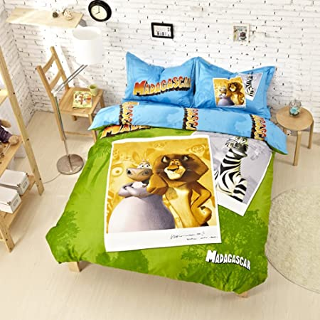 Madagascar Bedding Set Twin Queen King Size Comforter Duvet Cover Set