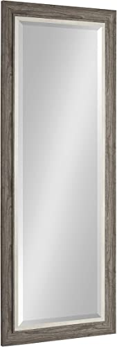 Kate and Laurel Woodway Decorative Frame Full Length Wall Mirror, 21.5×53.5 Rustic Gray
