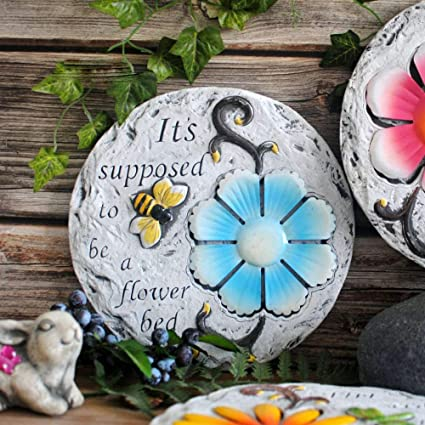 Garden Decorations Vintage Old Style Flowers And Birds Pattern Cement  Wrought Iron Garden Stepping Stones,