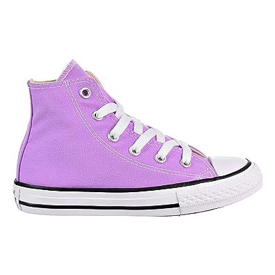 c8e99e118f829c Converse Kids Chuck Taylor All Star Hi Top Fashion Sneaker Shoe - Fuchsia  Glow - Boys