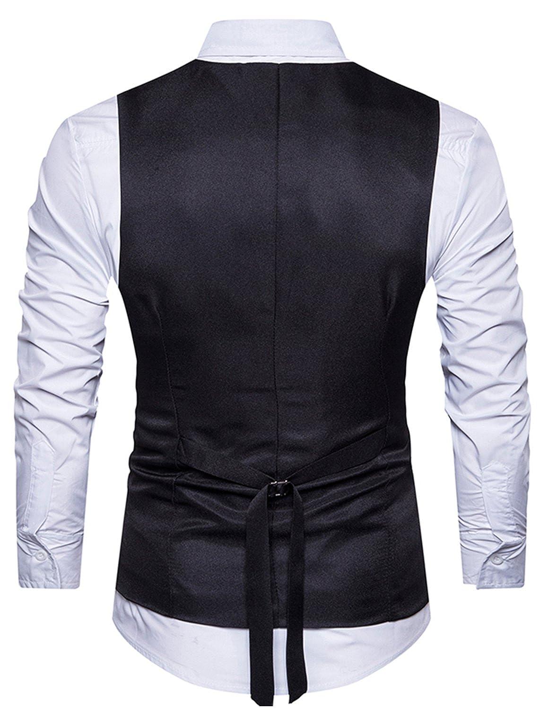 YCHENG Hombre Sin Mangas Clásico Chaleco Vestir de Boda Casual Slim Fit  Blazers Negro XXL  Amazon.es  Ropa y accesorios 07887a7593af