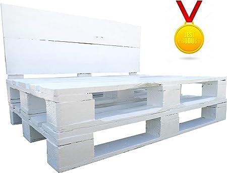 Dydaya Estructura de Sofa de Palet/Pallets Color Blanco con Respaldo para Interior & Exterior para Patio, Jardín & Atico: Amazon.es: Hogar