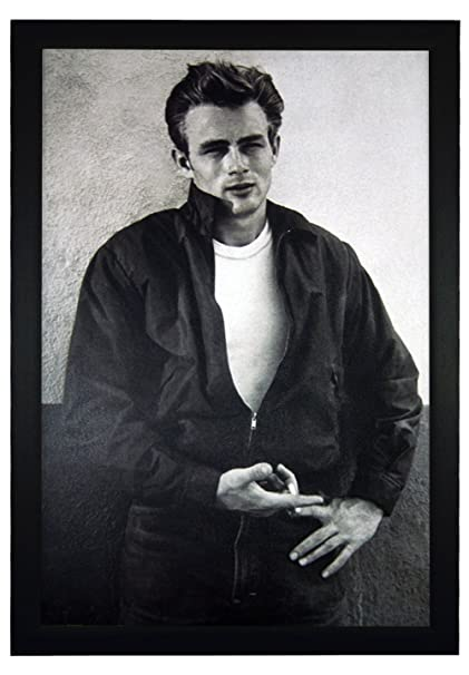 James dean classic movie star black and white vintage photography 24x36 framed