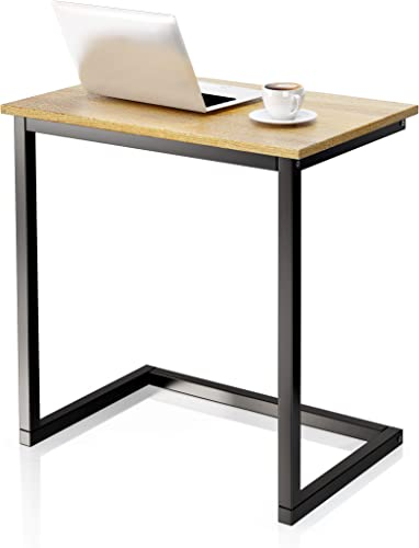 VIPEK Sofa Side End Table C Wood Table Snack Coffee Tray Side Accent Couch Table Notebook Laptop Holder Over Bed Stand Reading Desk Gray Oak Color 22x14x26.4 Inch Space Saving for Living Room Bedroom