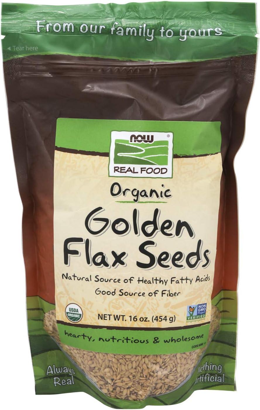 Amazon.com: Now Foods, dorado Orgánica de semillas de lino ...