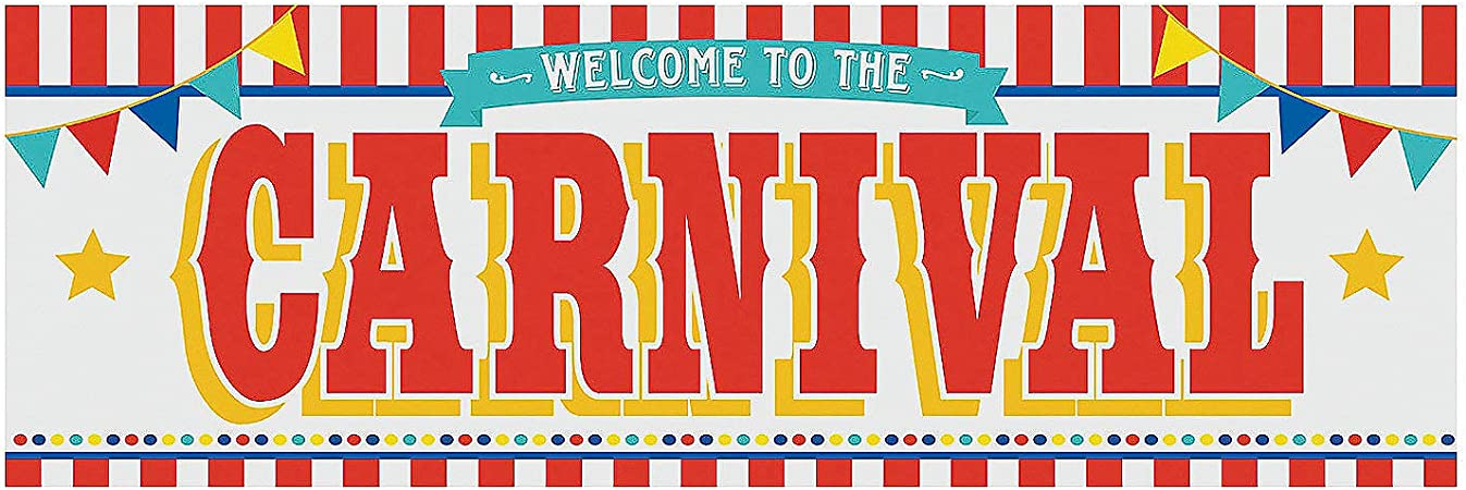 Amazon.com: Carnival Welcome Party Banner - 6 Feet Long - Circus Party  Supplies: Home & Kitchen
