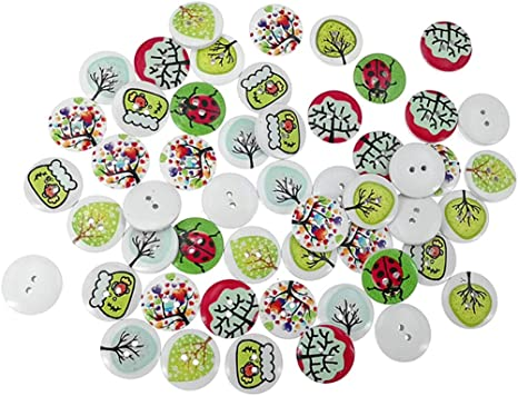 2 Per Card Crystal 13mm Rainbow Buttons Sewing Craft Knitting 2 Hole