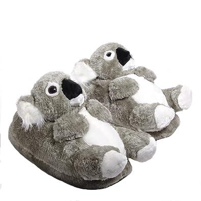 Sleeper z - Koala - Chaussons animaux peluche - Enfant - Cadeau original -  Pointure 80ecb6dfe88