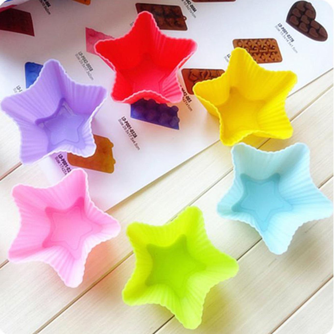 10 pack of Silicone Star Shape...