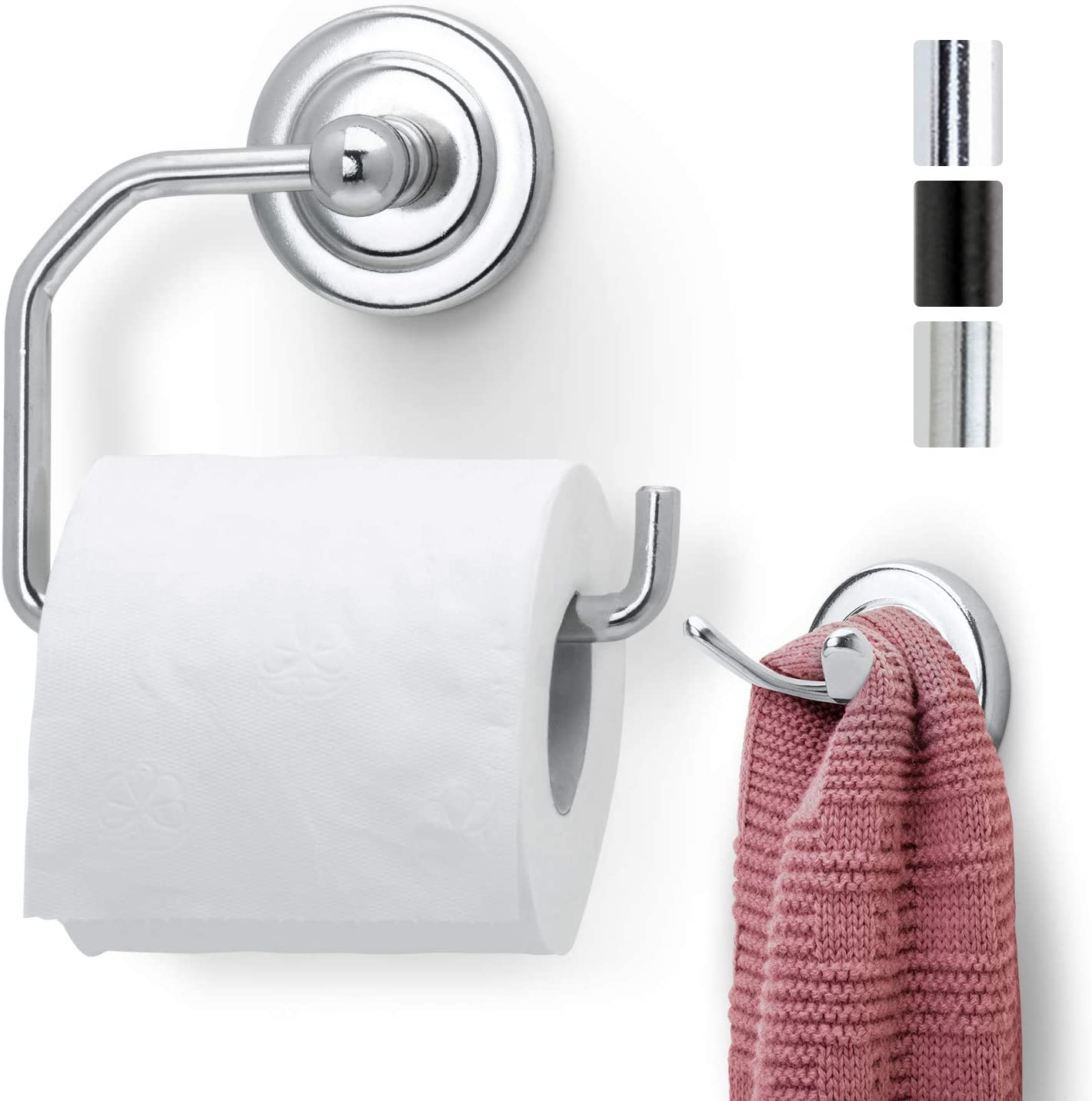 Amazon Com Jack N Drill 1 Pack Toilet Paper Holder With Free Towel Hook European Style Wall Mounted Toilet Paper Bathroom Organizer And Storage In Chrome Finish For Bathroom Kitchen Home Office Home