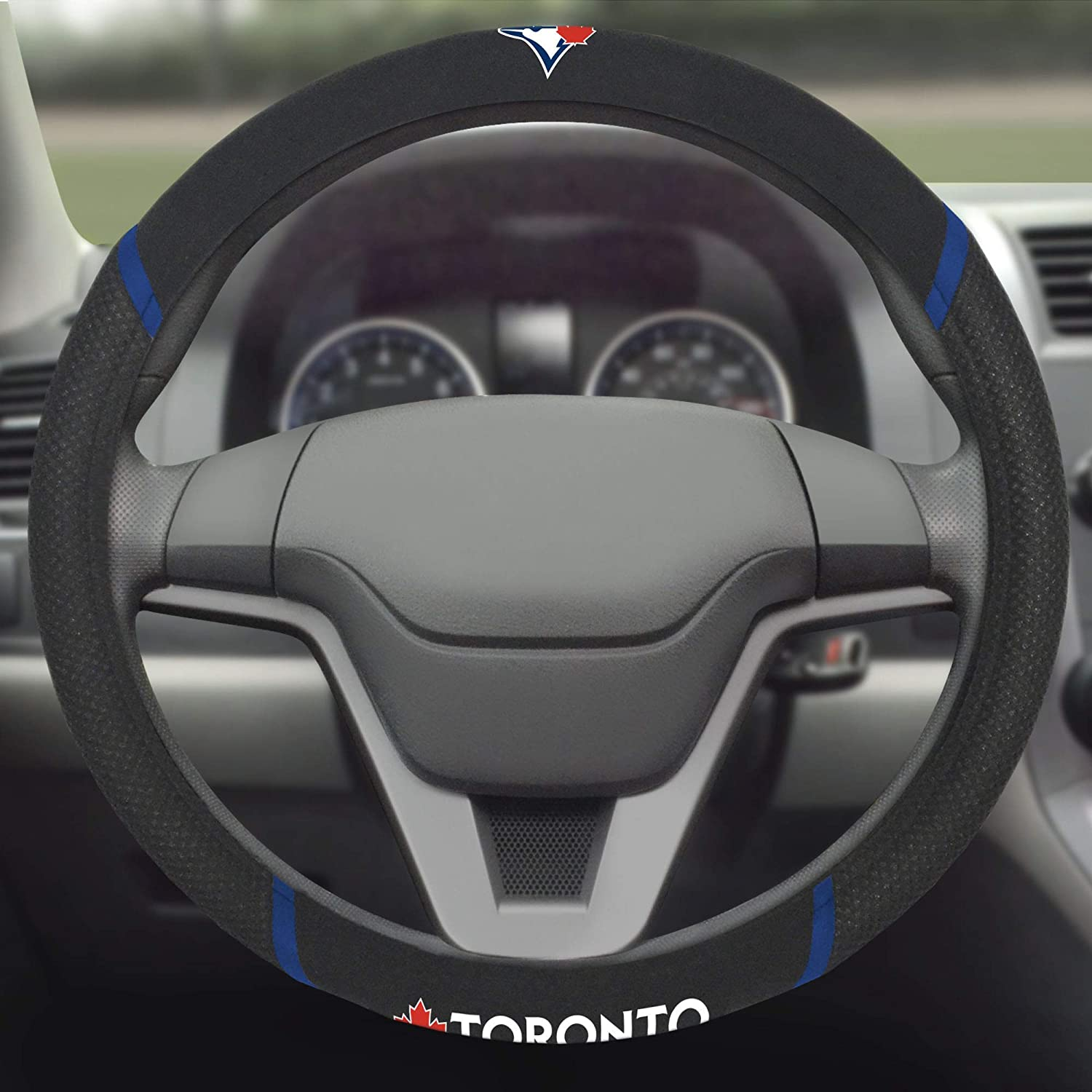 FANMATS 26745 MLB Toronto Blue Jays Steering Wheel Cover