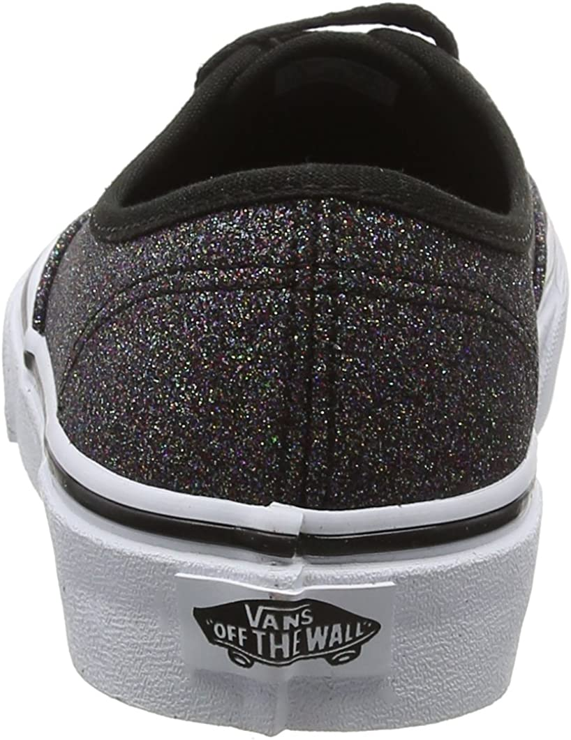 Vans Damen Authentic Sneaker, Schwarz (Glitter), 34.5 EU