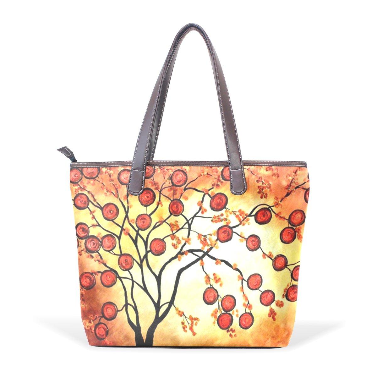 Ye Store Fruit Mature Season Lady PU Leather Handbag Tote Bag Shoulder Bag Shopping Bag