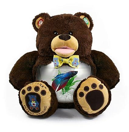Amazoncom Teddy Tank Chocolate Brown Bear Betta Fish Tank 8 Piece