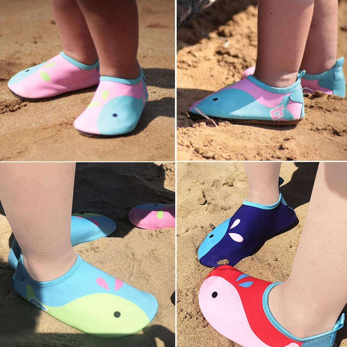 Timatego Toddler Kids Water Shoes Quick Dry Swim Beach Shoes Non-Slip Barefoot Aqua Socks for Boys Girls Surfing Yoga Outdoor Sports