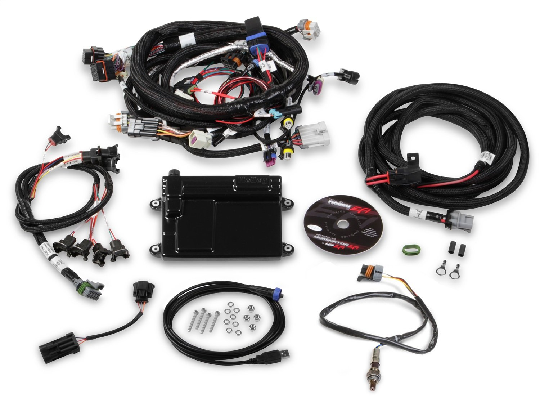 Holley EFI 550-607N HP EFI ECU And Harness Kit GM LS2/LS3/LS7 Incl. ECU/Harness Incl. NTK Oxygen Sensor HP EFI ECU And Harness Kit