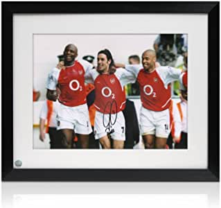 Robert Pires firmada y Enmarcada Arsenal Foto: Los Invencibles ...