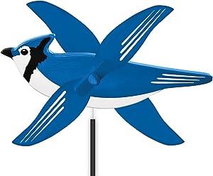 WindNSun WhirlyGig Outdoor Animated Decor, Blue Jay