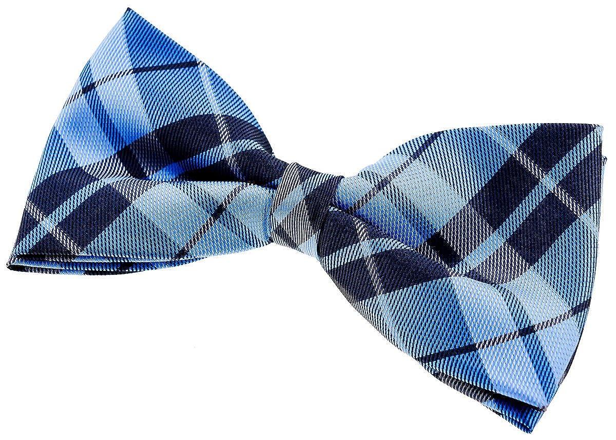 Retreez Preppy Plaid Check Woven Microfiber Pre-tied Bow Tie 5