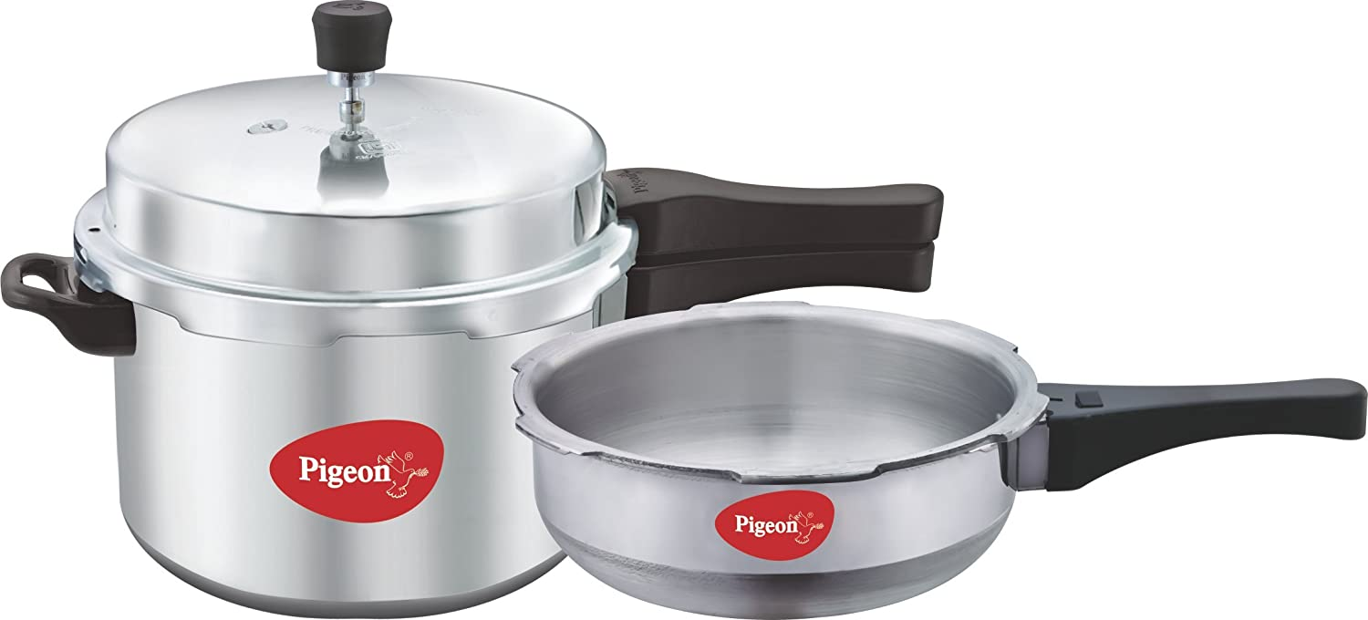 Pigeon by Stovekraft Calida Aluminium Pressure Cooker Set,