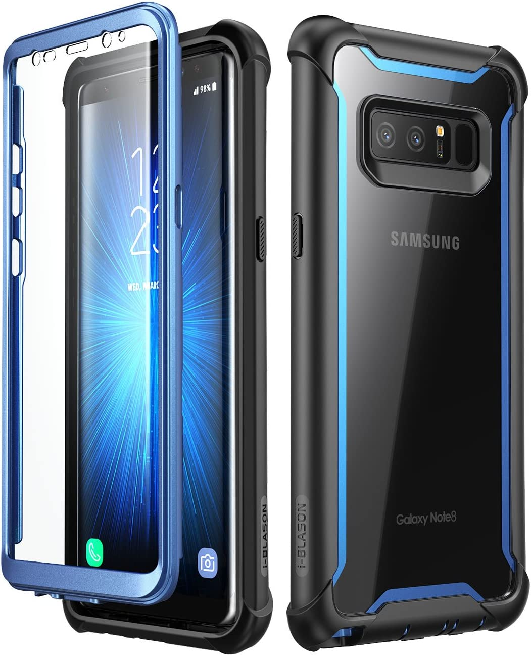 i-Blason Funda Galaxy Note 8 [Ares] 360 Grados Carcasa Completa con Protectores de Pantalla Incorporados para Samsung Galaxy Note 8 (2017) Azul: Amazon.es: Electrónica