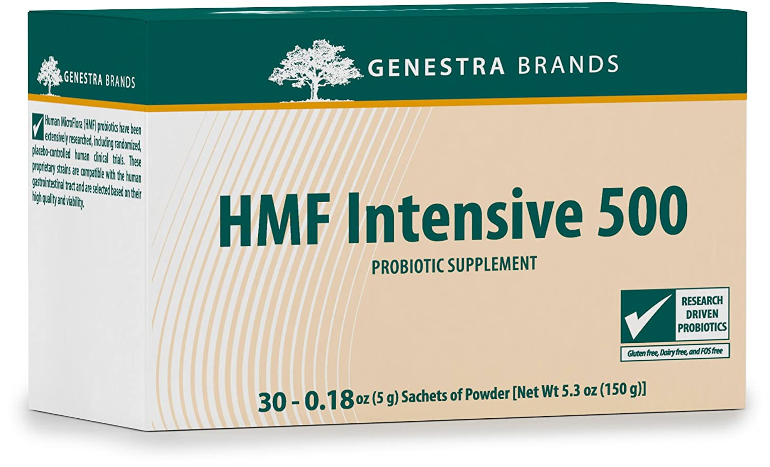Amazon.com: Genestra Brands - HMF Intensive 500 - Highly Concentrated Probiotic Supplement to Support Gastrointestinal Health - 5 Gram Sachets of Powder ...