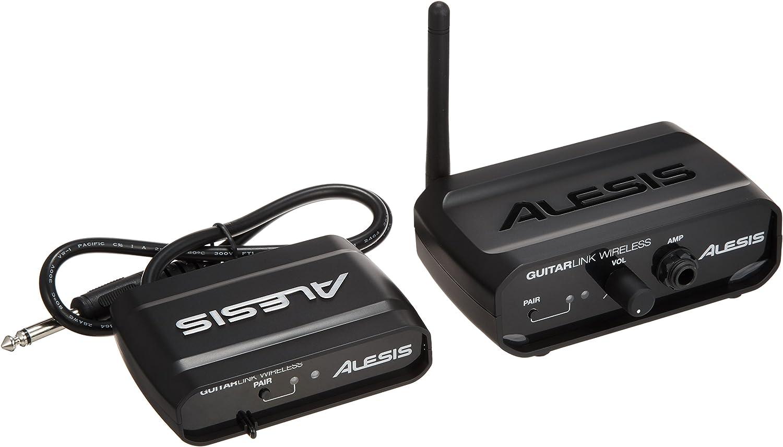 Alesis Guitar Link Wireless - Sistema inalámbrico para guitarra con transmisor y receptor, alcance de 20 m