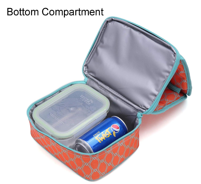 0ddc159d3 MIER bolsa lonchera térmica con compartimento doble bolsa térmica  reutilizable para las mujeres, niños: Amazon.com.mx: Hogar y Cocina