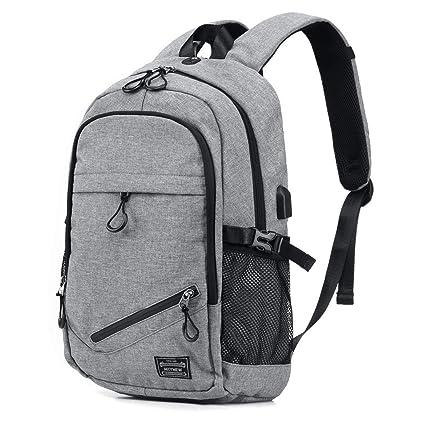 786b3ccfa8f8 KEYNEW Smart Business Laptop Backpack with Card Organizer on Shoulder  Strap,Luggage strap,USB Charging Port fits 15.6 inch Computer/ Notebook for  men ...