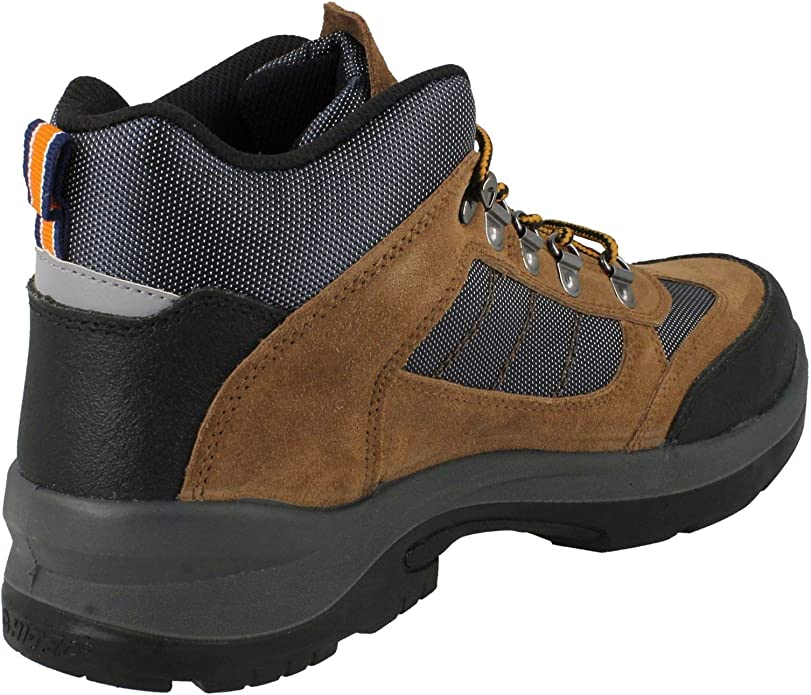 Mens Hi-Tec Brown Suede Work Safety Boot Safehike Mid