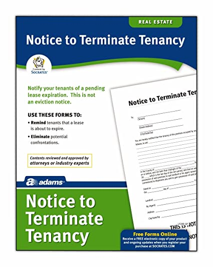amazon com adams notice to terminate tenancy form 8 5 x 11 inch