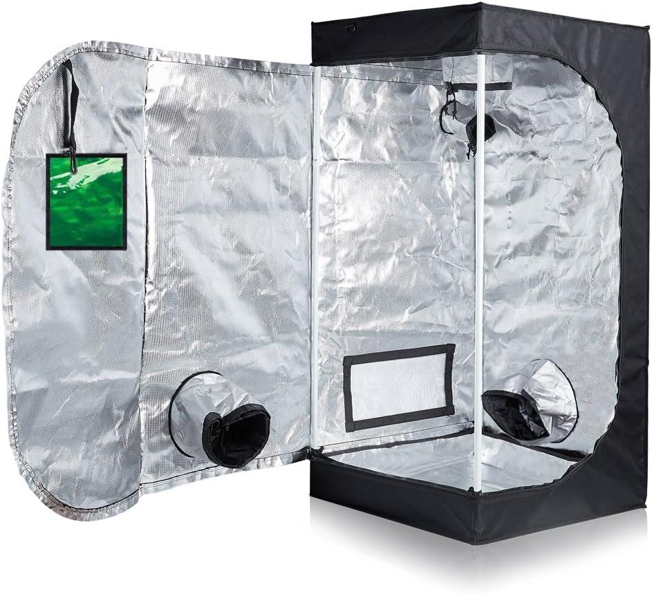 TopoLite 24 X24 X48 96 X48 X80 96 X96 X80 120 X60 X80 120 X120 X80 Indoor Grow Tent Dark Room Greenhouse for Hydroponic Garden Farm Mylar 24 x24 X48 Metal Corner Window