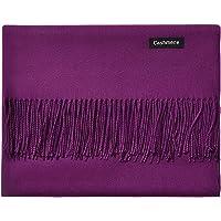 L'vow Women's Soft Cashmere Blend Evening Scarves Pashmina Cape Shawl Wraps Stole (Purple)