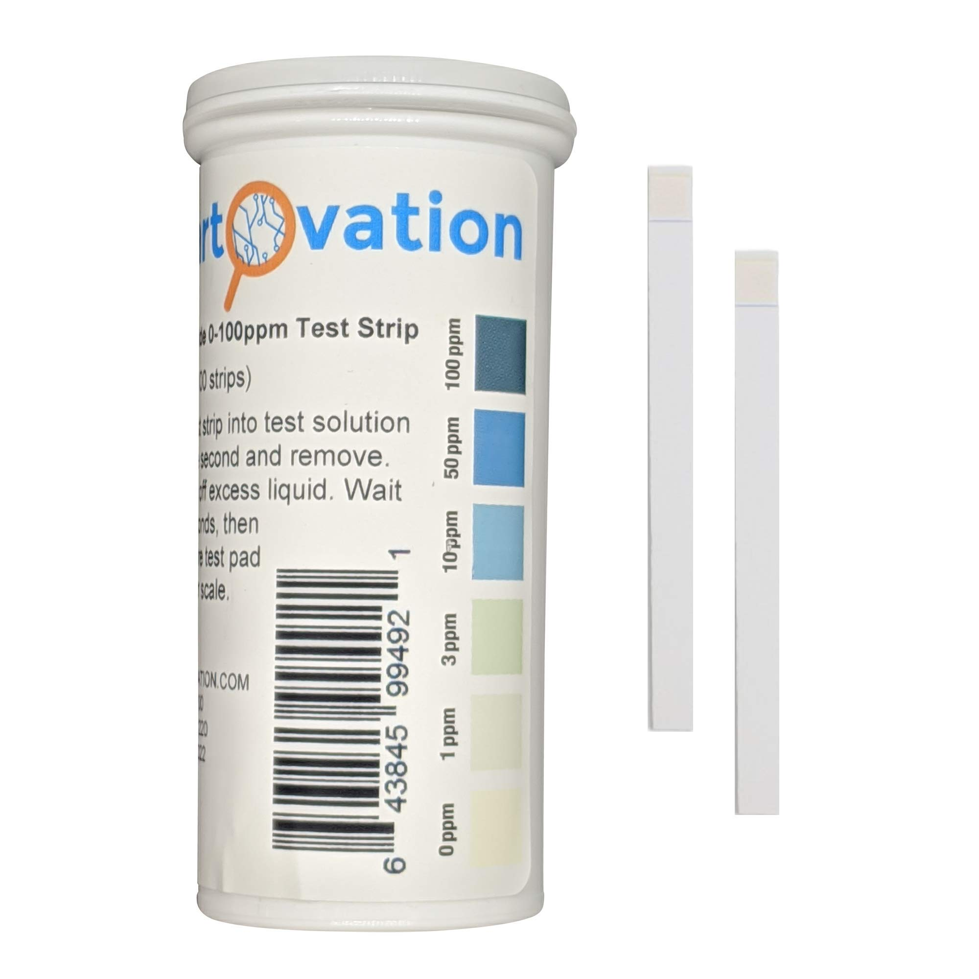 Hydrogen Peroxide H2O2 Test Strips, Low Level, 0-100 ppm [Vial of 100 Strips]