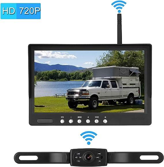 Emmako Backup Camera and 7/'/' Monitor Kit for Truck Trailer RV Camper IP68 Night
