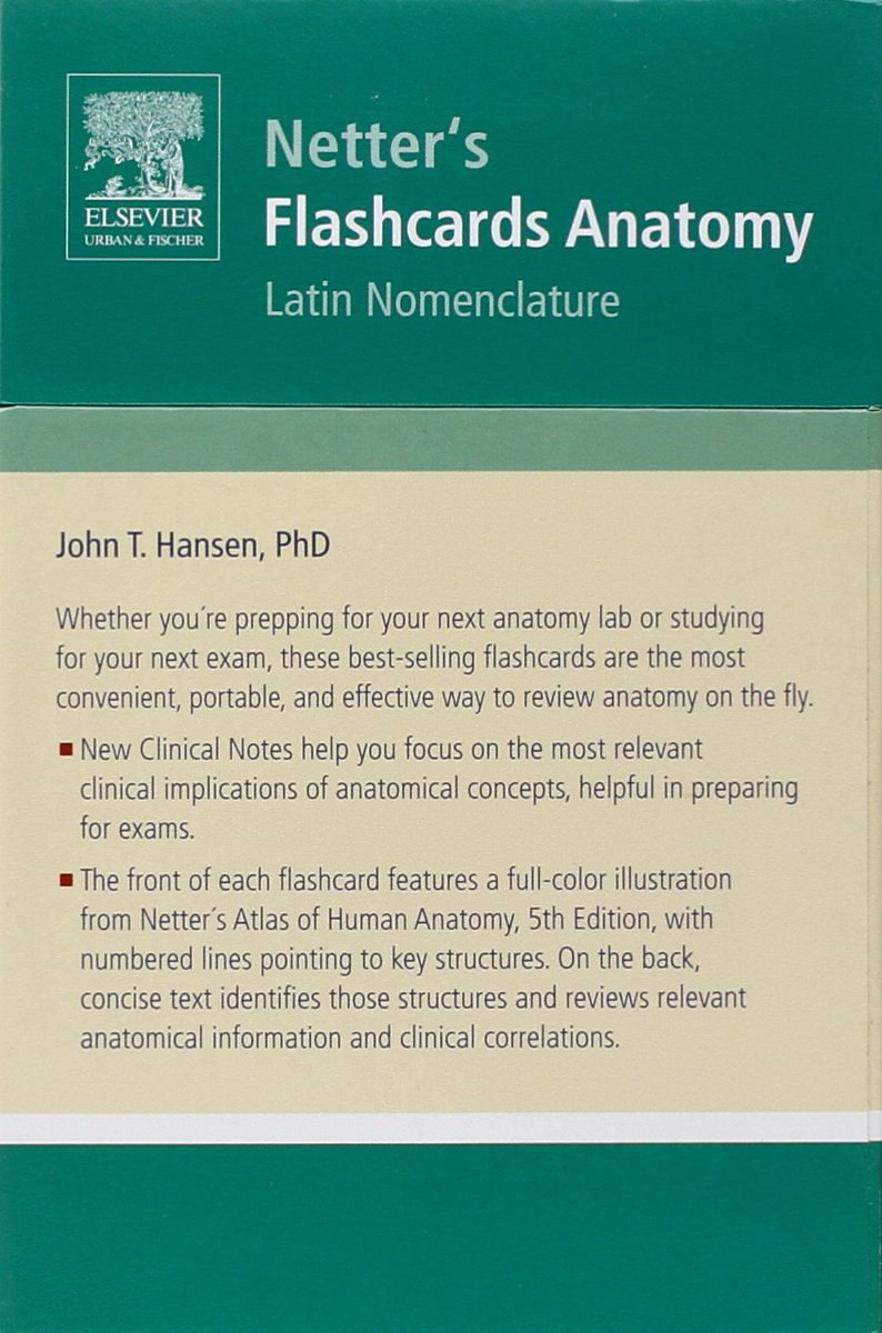 Flashcards Anatomy: Latin Nomenclature Netter Basic Science: Amazon ...