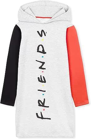 Friends Sudaderas Mujer, Sudaderas Anchas con Capucha, Vestido Sudadera Mujer Color Negro, Merchandising Oficial Regalos para Mujer y Adolescente Talla S-XL