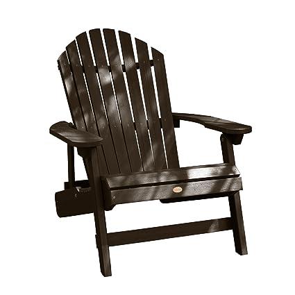 Superbe Highwood King Hamilton Folding And Reclining Adirondack Chair, Weathered  Acorn