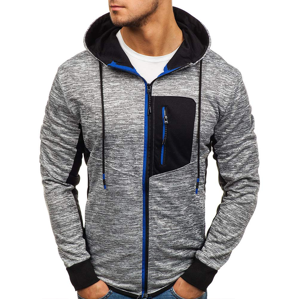 Boyland Mens Hoodie Jacket Zip Up Comfy Hooded Sweatershirt