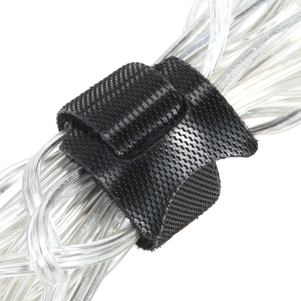Noir OULII Colliers en Nylon 6/Pouces Fixation Colliers avec r/éutilisables Hook et Loop Bracelet Colliers pour Le Fixation de Organisateur/ /100/Pack
