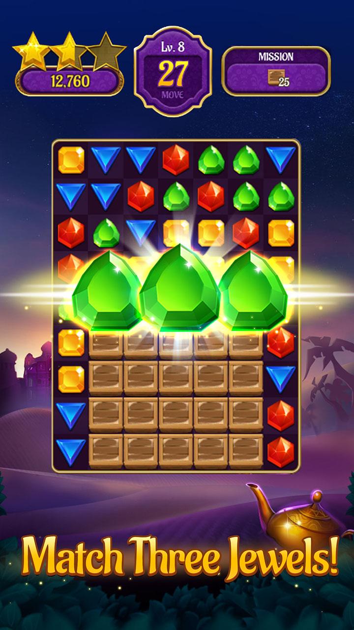 Amazon.com: Jewels & Genies: Magic Match 3 Puzzle Quest