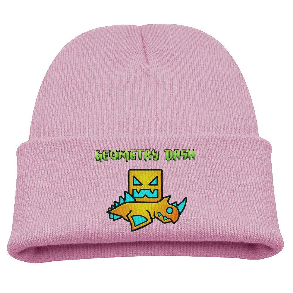 Child Unisex Cashmere Hat Hipster Beanie Winter Geometry Dash Ski Hat Hat HatsforWomen