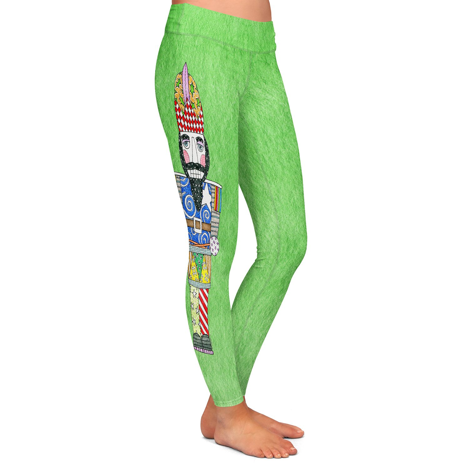 Athletic Yoga Leggings from DiaNoche Designs by Marley Ungaro Nutcracker Green