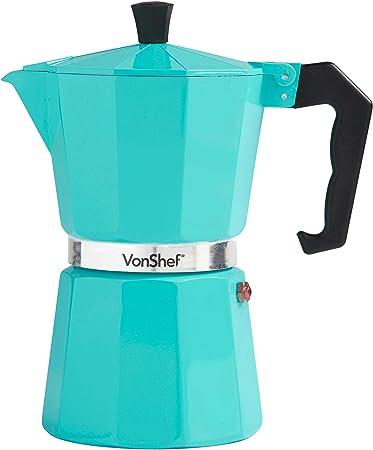 VonShef Cafetera Espresso Macchinetta de 6 Tazas Estilo Italiano ...