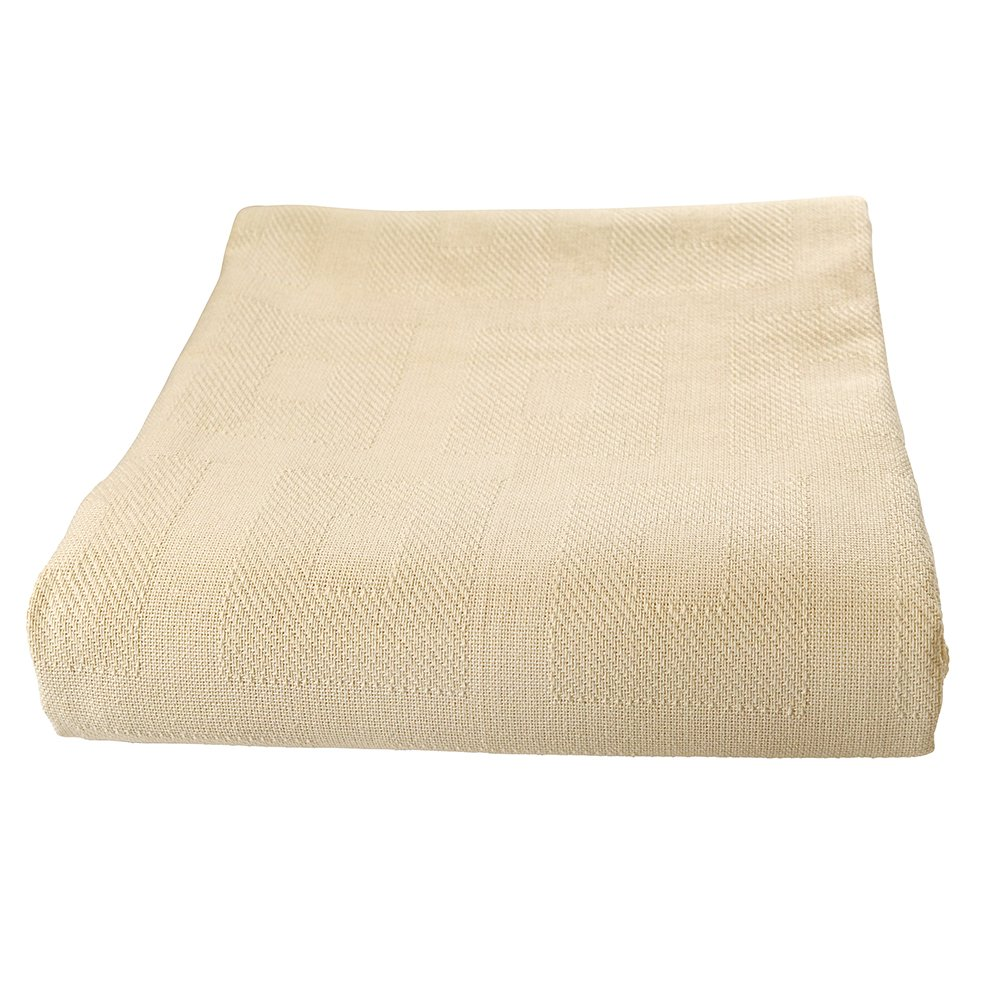Sigmatex BK66903SGBN Healthcare Thermal Spread Blanket, Snag Free, 55% Cotton/45% Polyester, 66'' Width 90'' Length, 3.0 lb/ea., Bone,  (12 ea)