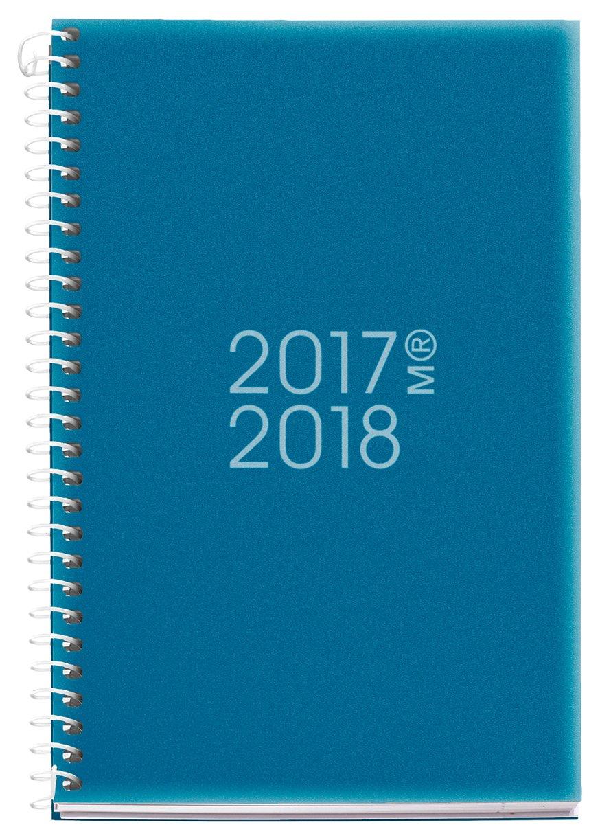 Miquelrius 273013 - Agenda escolar activa, 117 x 174 mm, semana a la vista, diseño cat, color azul petróleo