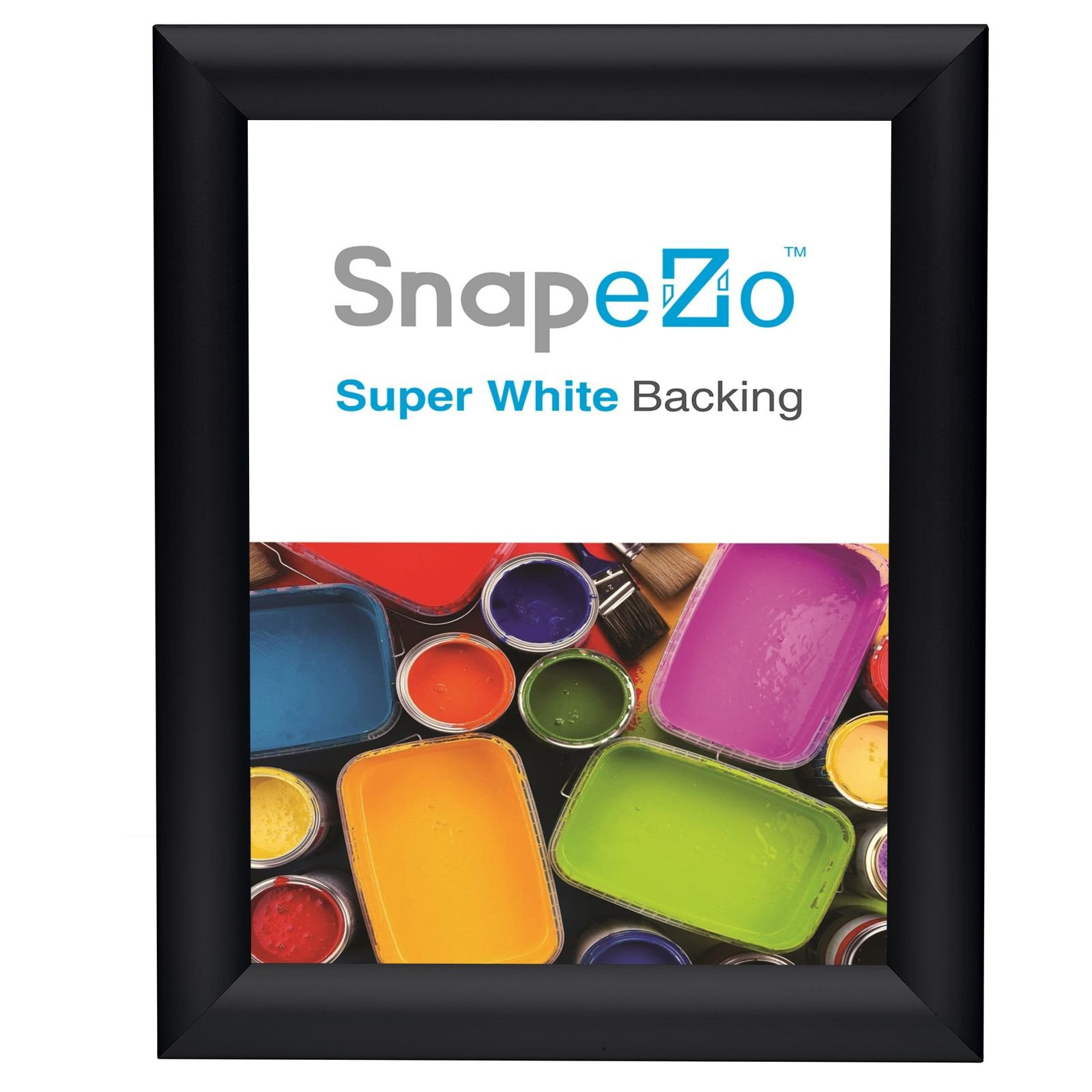SnapeZo Weather Resistant Black Poster Frame 8.5x11 Inches, 1.38 Inch Outdoor Profile, Outdoor Poster Display Unit by SnapeZo